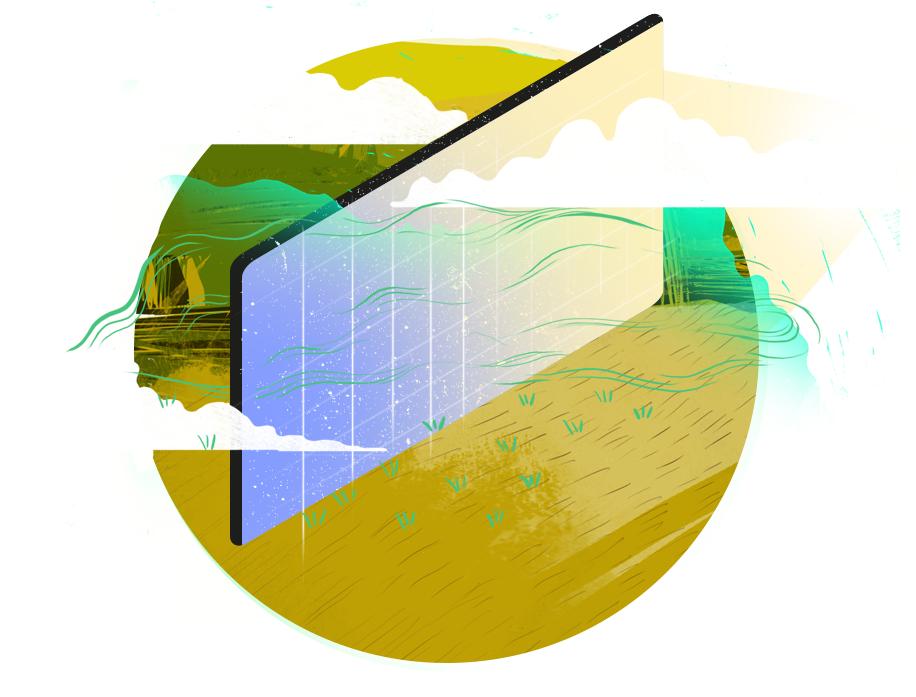 Rysunek panelu baterii słonecznej